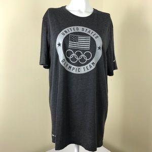 Nike USA Olympic Team Dri Fit Carbon Gray T-Shirt
